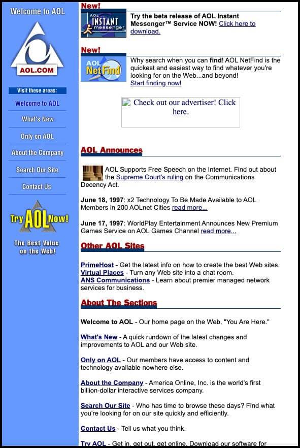 AOL (1997)