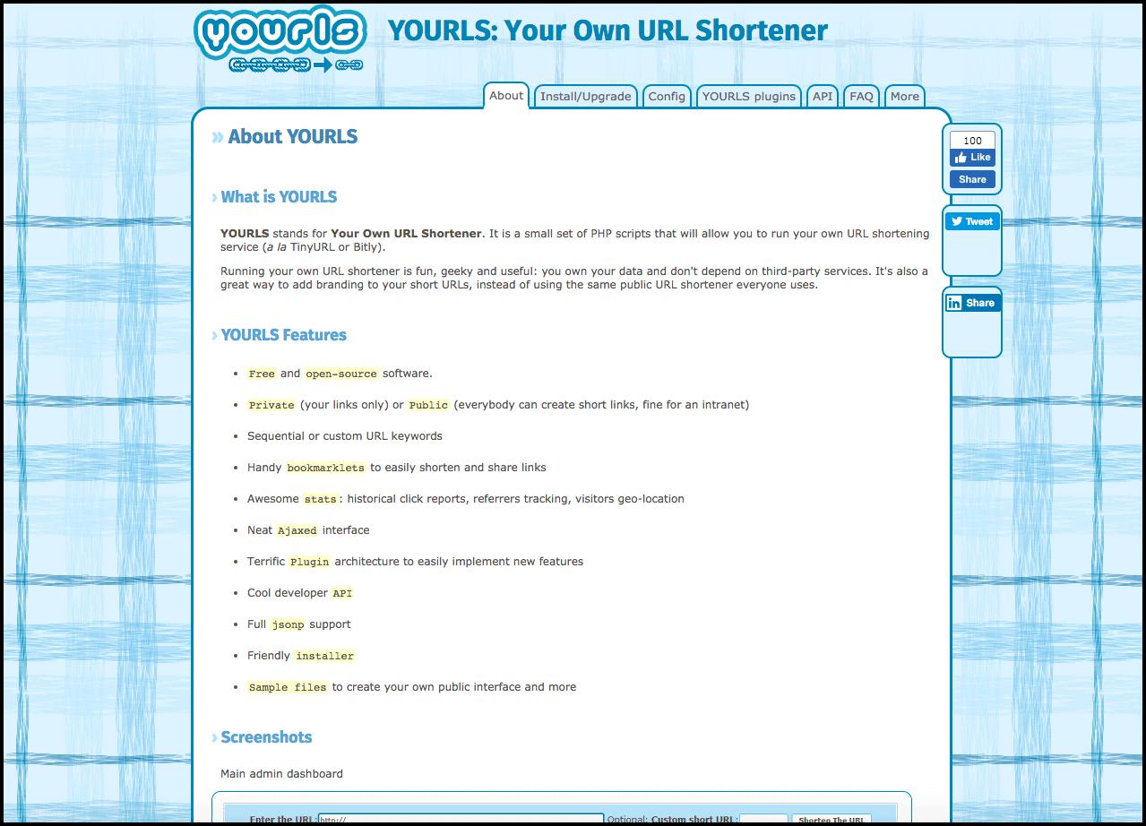 YOURLS - Crie seu próprio encurtador de links