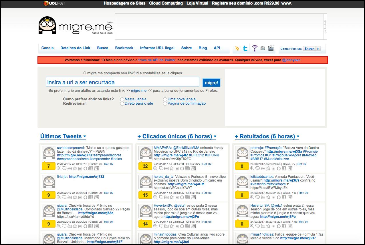 Migre.me - O encurtador de links mais famoso do Brasil